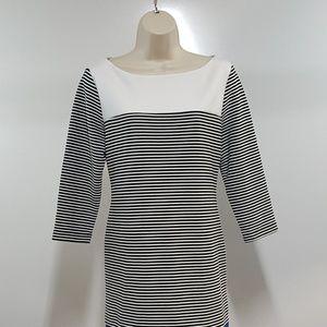 Isaac Mizrahi Blue White Shift Dress
